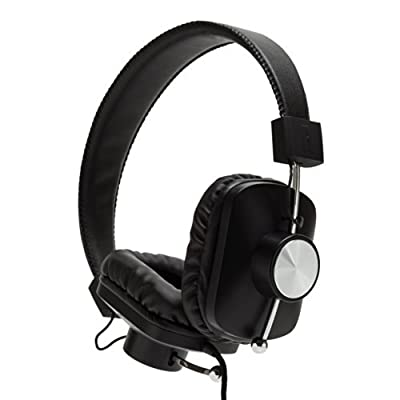 Eskuche Control v2 BLK On-Ear Headphone with Apple 3 Button Mic