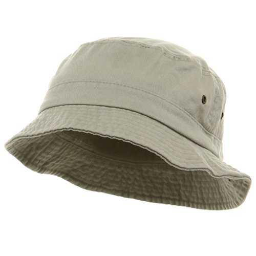 Washed Hats-Beige W12S41E,(S/M) (Bucket Beige)