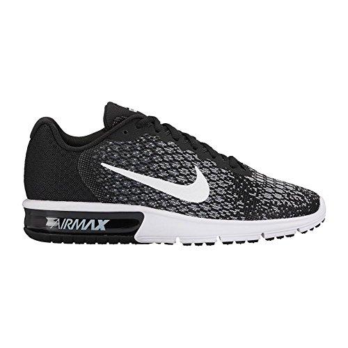 Nike Wmns Air Max Sequent 2, Zapatillas de Gimnasia para Mujer Schwarz (Black/Dark Grey/Wolf Grey/White)
