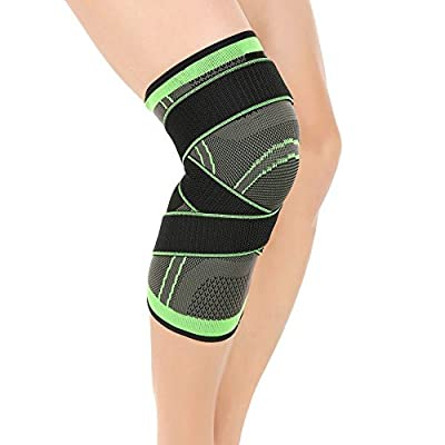 Knee Brace Support with Adjustable Compression Straps for Running ,Jogging, Cross Fit, Sports, Joint Pain Relief. Arthritis and Injury Recovery -Single Wrap