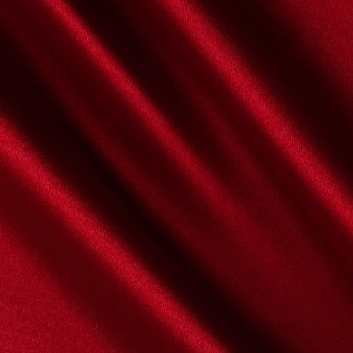 Shannon Fabrics Silky Satin Charmeuse Solid Lipstick Red Fabric by The Yard, Lipstick Red