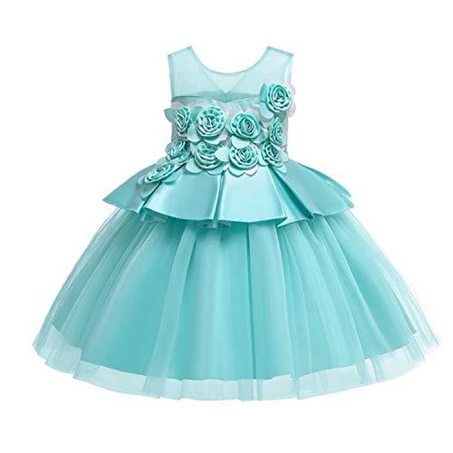 Girls Dress Elegant Party Princess New Kids Dresses for Girls Toddler Wedding Dress Vestido Costume Kids 8 9 10 Years Green 6 ()