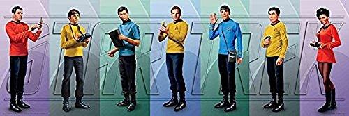 (Buyartforless Star Trek Crew Original Series Cast 36x12 Art Print Poster Gene Roddenberry Space Western)