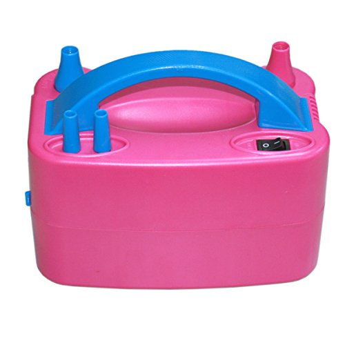 Blower Party Pink Portable Double Electric Balloon Air Pump 110V