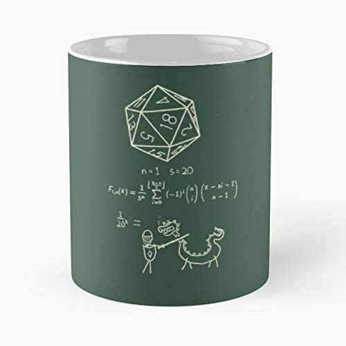 92Wear Ink Black White Pop Art Tea D20 Science Math Dice DND Dungeons and Dragons Mug Taza De Motivos De Caf/é Best 11 oz Taza De Caf/é