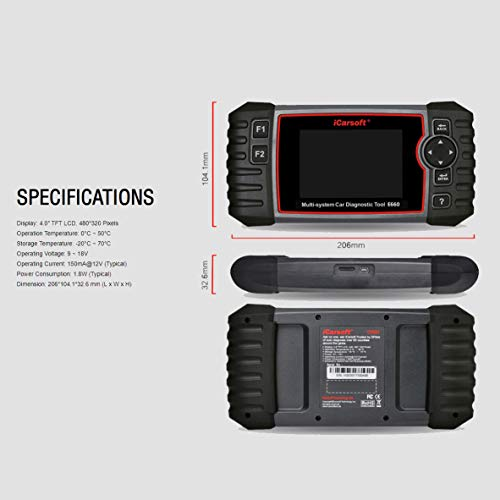 iCarsoft E660 ABS+SRS+SAS+EPB+OBD II Diagnostic Tool by iCarsoft (Image #3)