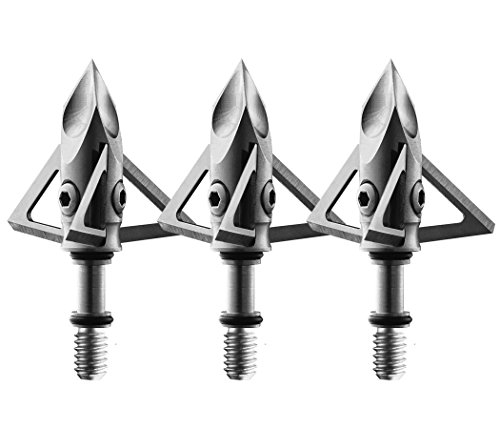 Diamond Broadhead (Ramcat Diamondback Broadheads (3 Pack), Silver, 100 Grain)