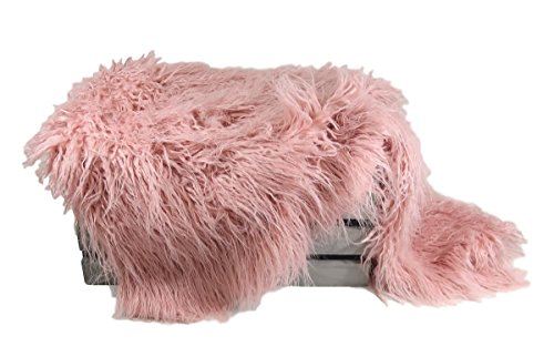 Custom Photo Props VEGAN (Animal Friendly) Peony Pink Faux Flokati Fur, Newborn Photo Props, Hypoallergenic & Washable Baby Props, Basket Stuffer Fur Photography -