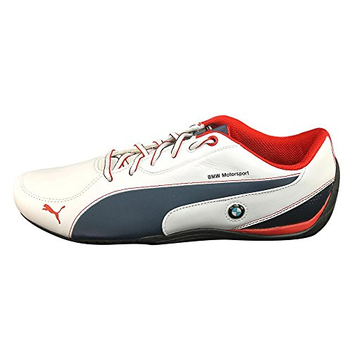 Puma Drift Cat 5 BMW L Mens Sneakers (12, White BLue Ribbon Red)