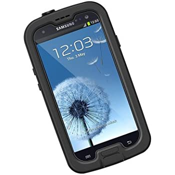 samsung galaxy s3. lifeproof fre samsung galaxy s3 waterproof case - retail packaging black/clear