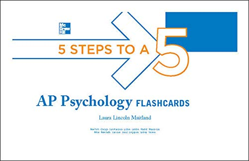5 Steps to a 5 AP Psychology Flashcards (5 Steps to a 5 on the Advanced Placement Examinations Series)