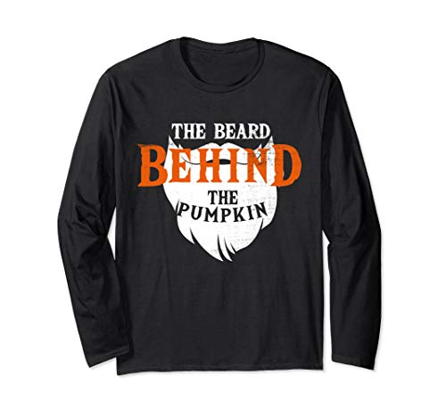 Good Halloween Costumes For Bearded Guys (THE BEARD BEHIND THE PUMPKIN HALLOWEEN FUNNY PREGNANCY GIFT Long Sleeve)