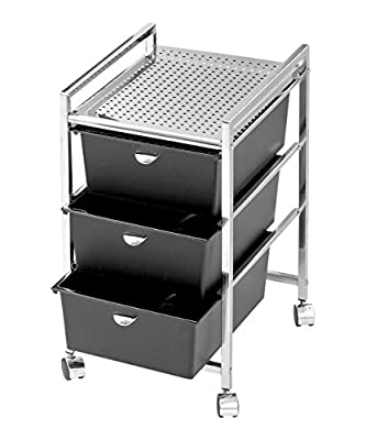 PIBBS 3 Drawer Cart Metal Frame (Model: D23)
