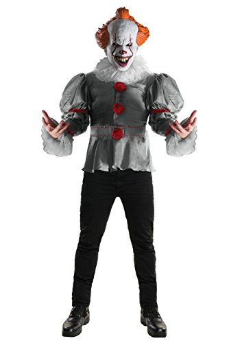 Rubie's Adult Deluxe IT Pennywise Movie Costume Small Gray]()