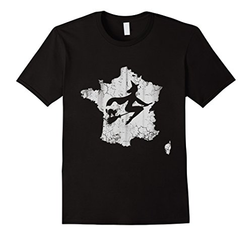 France Costume For Male (Mens France Halloween Witch Costume Shirt Medium Black)