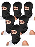 Tatuo 6 Pieces Unisex Balaclava Full Face Mask Winter Windproof Ski Mask for Outdoor Motorcycle Cycling Hiking Sports (Black)