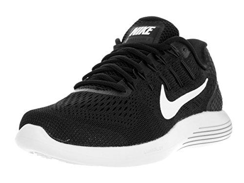 Nike Mens Lunarglide 8 Running Shoes Black/White/Anthracite 843725-001 Size 9 (Size 8 Men Red Nike Running Shoes)