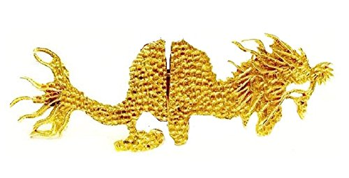 - Vintage Very Rare Gold Oriental Chinese Dragon Belt Buckle