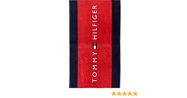 Tommy Hilfiger UU0UU00011 TOWEL TOALLA DE PLAYA Unisex BLU RED UNI: Amazon.es: Hogar