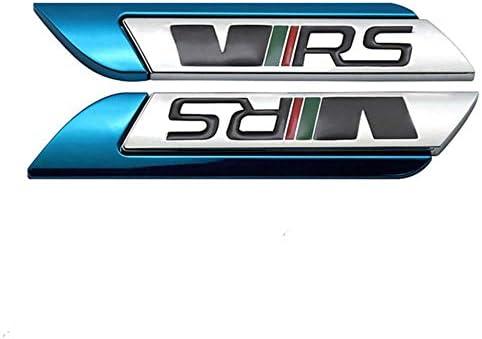 Omgdz Auto 3d Verchromte Metall Kotflügel Seitenaufkleber Für Vw Skoda Vrs Octavia 2 3 Fabia Schnelle Kodiaq Karoq Kamiq Logo Emblem Abzeichen Aufkleber Blau Küche Haushalt