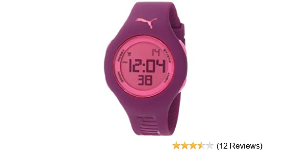 89843f4a1dcc Amazon.com: PUMA Women's PU910912010 Loop Small Digital Dark Purple Watch:  Puma: Watches