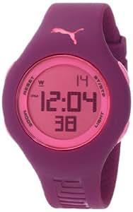 PUMA Women's PU910912010 Loop Small Digital Dark Purple Watch