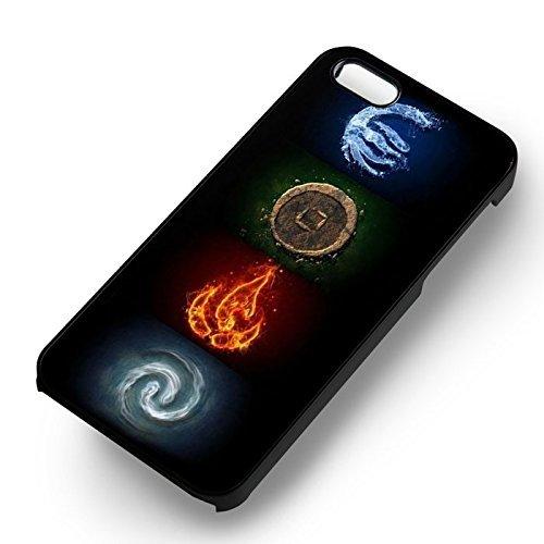 The Legend Of Aang Symbols pour Coque Iphone 6 et Coque Iphone 6s Case (Noir Boîtier en plastique dur) S3K0FT