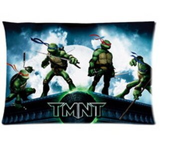 Hot New Pillowcase Custom Pillowcase Cartoon Teenage Mutant Ninja Turtles Pillow Case 20x30 Inch Two Sides for $<!--$6.30-->