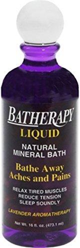 BATHERAPY Natural Mineral Bath Liquid Lavender 16 oz (Pack of (Batherapy Lavender Liquid)