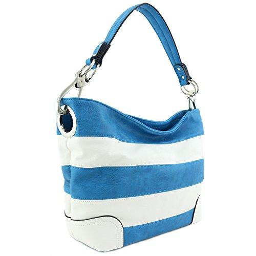 Hobo Shoulder Bag with Big Snap Hook Hardware ()