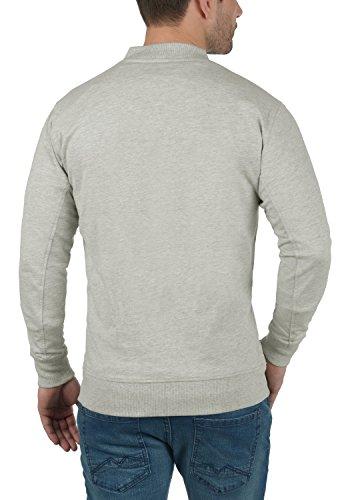 Grey 8242 Light Stampa Melange solid Giacca Felpa In Cerniera Fodera Pile Senza Con Cappuccio Uomo Taras Da 66Fwq1Oag