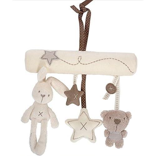Vi.yo Pendentif Plush Rabbit Star Bébé Cute Soft Peluche Activité Crib Poussette Jouets Musical Mobile Toy Doll