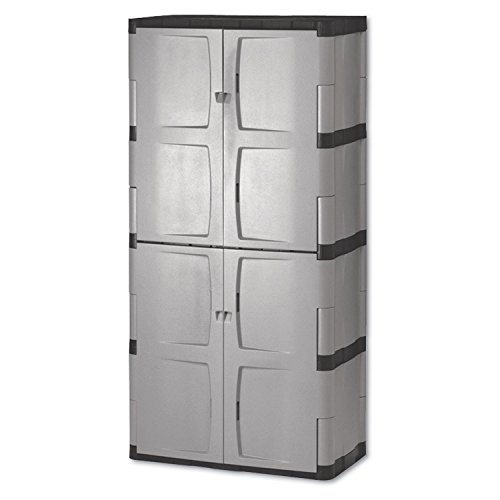 - RHP7083 - Double-door Storage Cabinet - Base/top, 36w X 18d X 72h, Gray/black