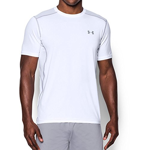Extreme L/s Shirt - Under Armour Men's Raid Short Sleeve T-Shirt, White (100)/Steel, Large