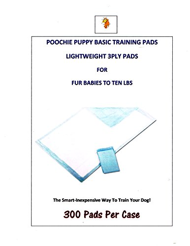 1200ct Poochie Basic Training Puppy Pads 17×24″ Dogs up to 10lbs Dogs