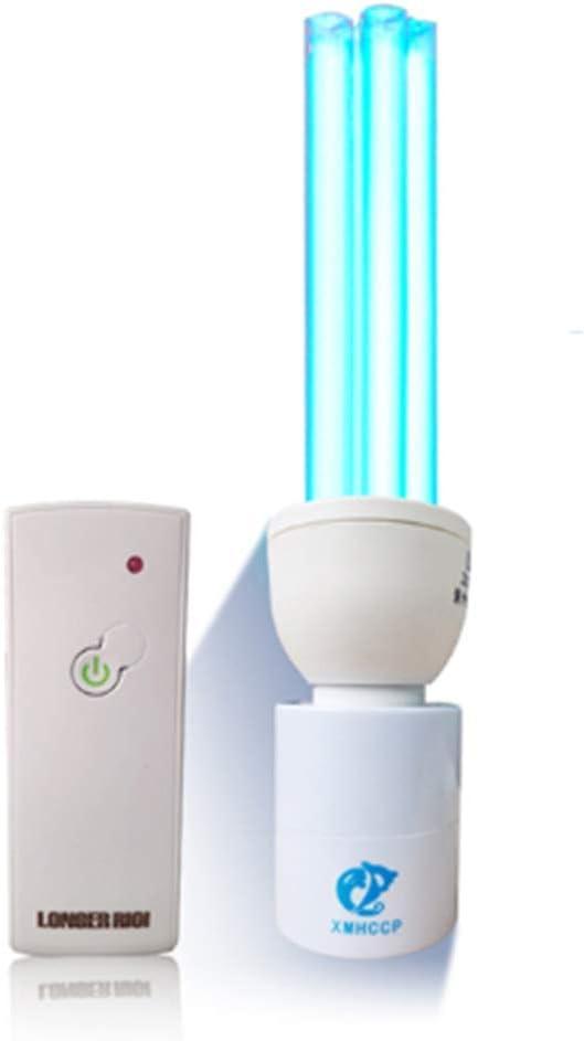 Innendesinfektions UVC kompakte Entkeimungslampe UV-Lampe Ozon Sterilisator Luftreiniger mit Lampenfassung und Fernbedienung,30W no area base remote control