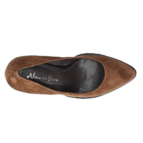 Suede Marron Mujer Pena Para En Zapato Alma 8fHEwRq8