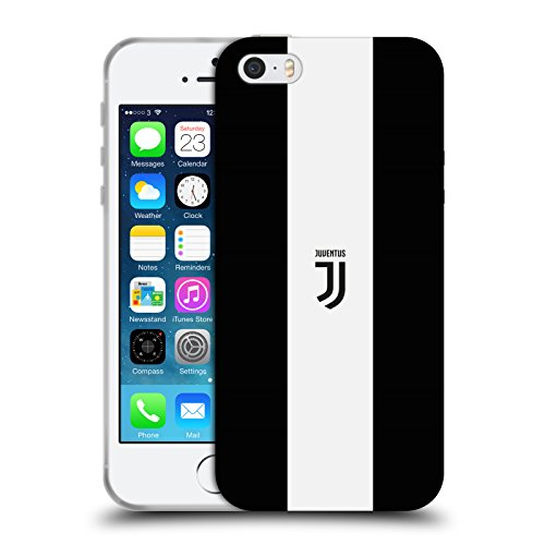 Officiel Juventus Football Club Rayure Blanche Grasse Style De Vie 2 Étui Coque en Gel molle pour Apple iPhone 5 / 5s / SE