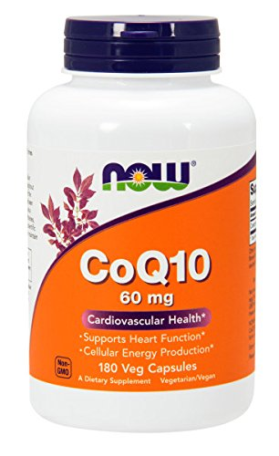 NOW CoQ10 60 mg,180 Veg Capsules
