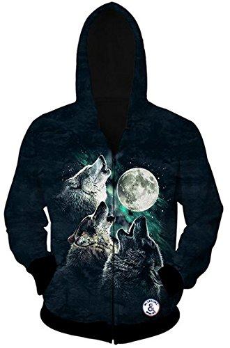 WHENOW Animal Printed Pullover Sweatshirts