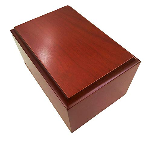 - Little Daisy Pet Cherry Wood Veneer with MDF Box Pet Urn
