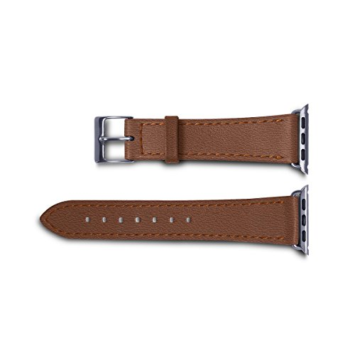 Lucrin - Apple Watch band 38 mm – Elegance - Tan - Goat Leather by Lucrin (Image #2)