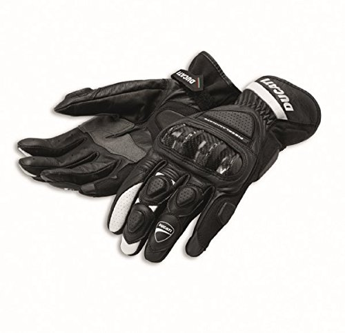 Ducati 981028245 Sport C2 Leather Gloves - Black - Large by Ducati