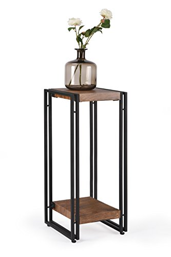 fivegiven tall accent side end table for small spaces living room night stand for bedroom rustic. Black Bedroom Furniture Sets. Home Design Ideas
