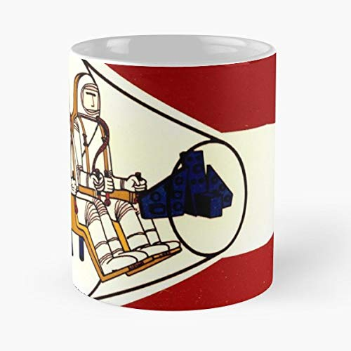 Red Space Spaceship Ship Rocket Partner Cartoon Astronaut Capsule Computer Program Nasa - Best 11 oz Coffee Mug Cheap Gift