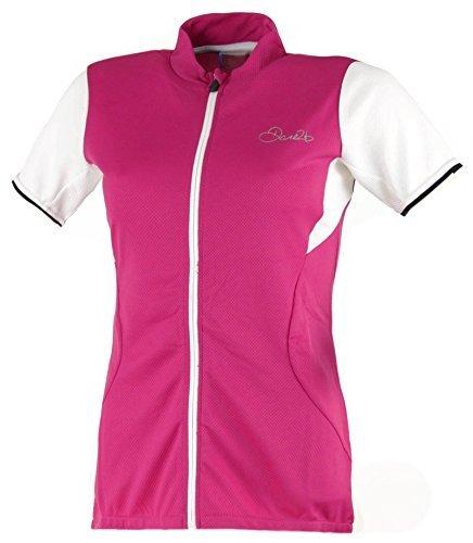 Dare 2b BESTIR cremallera completa ciclo jersey de la mujer rosa eléctrico