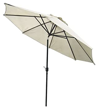 Coolaroo Market Umbrella Smoke 11 Feet