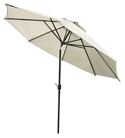 Captivating Coolaroo Market Umbrella Smoke 11 Feet