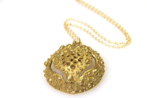 Gold Silver Sea Urchin Necklace