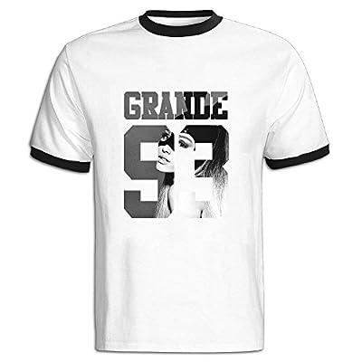Men's Two-toned Tshirt-Classic Ariana Singer Grande Cartoon Poster 433 Black